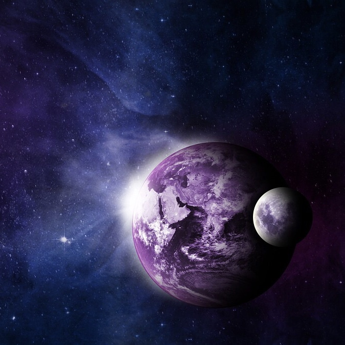 two purple planets